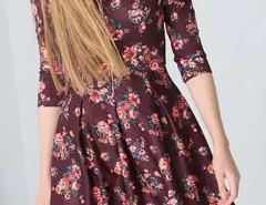 Multicolor V-neck Floral Strappy Detail Skater Dress Choies.com bester Fashion-Online-Shop Großbritannien Europa