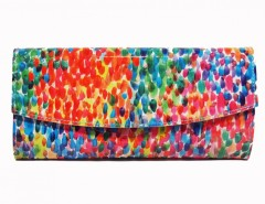 Multicoloured Patent Spot Printed Leather Mini Clutch Carnet de Mode bester Fashion-Online-Shop