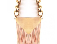 NECKLACE - TRIANGLE AND FRINGES - BEIGE Carnet de Mode bester Fashion-Online-Shop