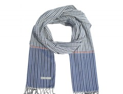 Navy Blue Cotton Scarf Carnet de Mode bester Fashion-Online-Shop
