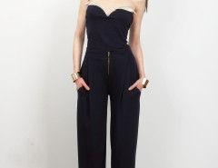 Navy Blue Viscose Pants Cézanne Carnet de Mode bester Fashion-Online-Shop