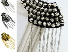 New 1 Pcs Fashion Punk Tassel Shoulder Boards Pointed-toe Rivet Club Party Cndirect bester Fashion-Online-Shop China