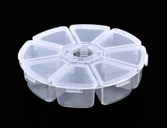 New Clear Round Bead Nail Art Tips Display Storage Box Container Case 8 Compartments Cndirect bester Fashion-Online-Shop China