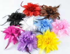 New Fashion Beautiful Girls Women's Hot Sale 9pcs /Colors Lily Head Flower Hair Clip Brooch Cndirect bester Fashion-Online-Shop China