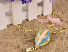 New Fashion Korean 1pcs Dreamer on Air Colorful Crystal Focus Fire Balloon Necklace Cndirect bester Fashion-Online-Shop China