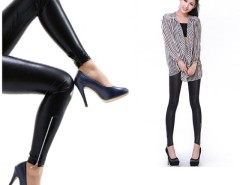 New Sexy Fashion Women's Lady Leather Zip Up Fashion Pants Tights Pants Leggings Black Cndirect bester Fashion-Online-Shop China