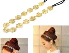 New Style Women's Girl Hollow Rose Flower Metallic Headband Hair Band 8HOT Cndirect bester Fashion-Online-Shop China