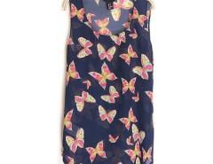 New Women Neck Sleeveless Butterfly Print Chiffon Vest Tank Top Shirt Cndirect bester Fashion-Online-Shop China