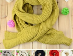 New Women's Fashion Solid Color Knitting Scarf Long Scarf Cape Scarf Wrap Shawl 6 Colors Cndirect bester Fashion-Online-Shop China