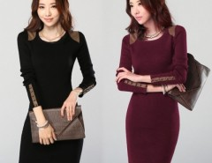 New Womens Warm Winter Slim Stretchy Dress Blouse Jumper Long Sleeve Bodycon Top Big Size Cndirect bester Fashion-Online-Shop China