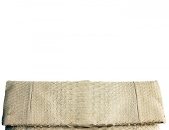 Nude Python Leather Clutch - Essentiel Carnet de Mode bester Fashion-Online-Shop