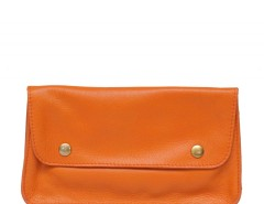 Orange Leather Purse Carnet de Mode bester Fashion-Online-Shop