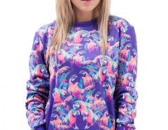 Parrots Printed Polyester Sweatshirt Carnet de Mode bester Fashion-Online-Shop