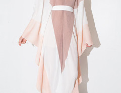 Pink Contrast V Neck Cut Out Back Batwing Sleeve Jumpsuit Choies.com bester Fashion-Online-Shop Großbritannien Europa