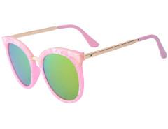 Pink Printed Frame Cat Eye Mirror Sunglasses Choies.com bester Fashion-Online-Shop Großbritannien Europa
