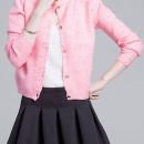 Pink Sequin Detail Button Up Long Sleeve Caidigan Choies.com bester Fashion-Online-Shop Großbritannien Europa