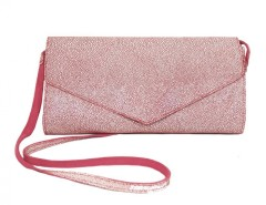 Pink Suede and White Caviar Leather Clutch Carnet de Mode bester Fashion-Online-Shop