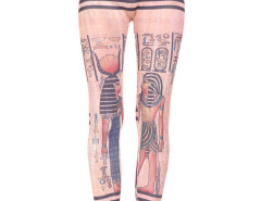 Pink Symbol Pattern High Waist Leggings Choies.com bester Fashion-Online-Shop Großbritannien Europa