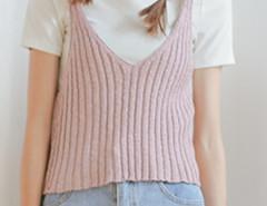 Pink V Neck Knit Vest Choies.com bester Fashion-Online-Shop Großbritannien Europa