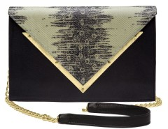 Printed Lizard Leather Clutch Le Versailles Carnet de Mode bester Fashion-Online-Shop