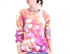 Printed Polyester Bokeh Sweatshirt Carnet de Mode bester Fashion-Online-Shop