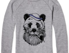 Printed Sweat Bear Sailor Carnet de Mode bester Fashion-Online-Shop