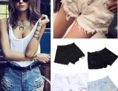Promotion Denim Shorts Women Fashion Ladies Jean Shorts  3 Colors Tassel Hole Jeans Denim Pants with Casual Short Cndirect bester Fashion-Online-Shop China