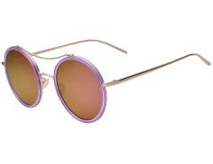 Purple Transparent Frame Round Mirror Sunglasses Choies.com bester Fashion-Online-Shop Großbritannien Europa
