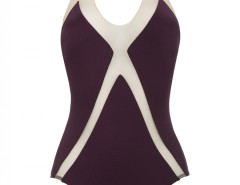 Purple and White Graphic One-Piece - Jenny Carnet de Mode bester Fashion-Online-Shop