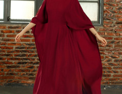 Red Batwing Sleeve Cape Back Maxi Dress Choies.com bester Fashion-Online-Shop Großbritannien Europa