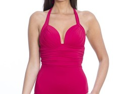 Red Draped and Sheathing Swimsuit Haussmann Carnet de Mode bester Fashion-Online-Shop