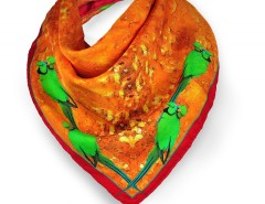 Red Paradision Printed Silk Square Scarf Carnet de Mode bester Fashion-Online-Shop