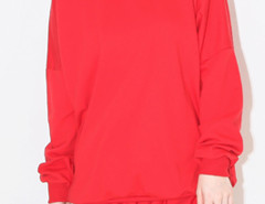 Red Pocket Long Sleeve Sweatshirt And Drawstring Waist Shorts Choies.com bester Fashion-Online-Shop Großbritannien Europa