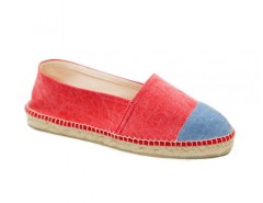 Red and Denim Cotton Espadrilles - La Marinera Carnet de Mode bester Fashion-Online-Shop