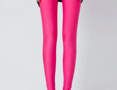 Rose Red High Waist Stretchy Leggings Choies.com bester Fashion-Online-Shop Großbritannien Europa