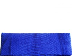 Royal Blue Python Leather Clutch - Essentiel Carnet de Mode bester Fashion-Online-Shop