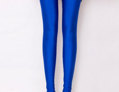 Royalblue High Waist Stretchy Leggings Choies.com bester Fashion-Online-Shop Großbritannien Europa