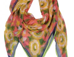 Russian Floral Printed Red Silk Scarf 2 Carnet de Mode bester Fashion-Online-Shop