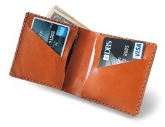 Rust Leather Bifold Wallet Carnet de Mode bester Fashion-Online-Shop