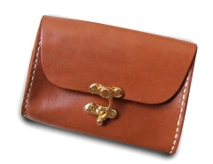 Rust Leather Purse Carnet de Mode bester Fashion-Online-Shop