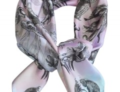 SCARF - MONKEYS NIGHTMARE - PINK Carnet de Mode bester Fashion-Online-Shop