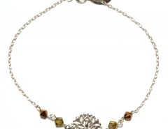 SIlver Bracelet and Rose Window with Brown Pearls Carnet de Mode bester Fashion-Online-Shop