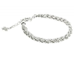 SIlver and Leather Bracelet - Les Entrelacs Carnet de Mode bester Fashion-Online-Shop