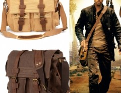 New Men's Vintage Style Canvas Leather School Military Shoulder Bag Messenger Bag Cndirect bester Fashion-Online-Shop aus China