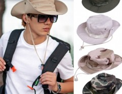Fashion Sun Hats for Men Outdoor Fishing Hiking Boonie Snap Brim Military Bucket Sun Hats Cap Woodland Camo Cndirect bester Fashion-Online-Shop aus China