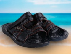 New Male Sandals Casual Leatherette Male Slippers Men's Beach Shoes Sandals 1 Size Black Cndirect bester Fashion-Online-Shop aus China