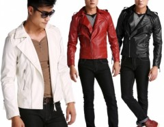 New Fashion Men's Slim Top Designed Sexy Synthetic Leather Short Jacket Coat Cndirect bester Fashion-Online-Shop aus China