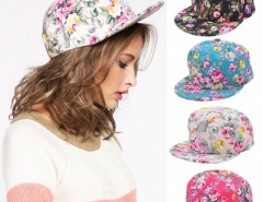 New Floral Flower Snapback Adjustable Fitted Men's Women's Hip-hop Cap Hat Headwear Cndirect bester Fashion-Online-Shop aus China