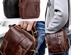 New High Quality Men's Genuine Leather Briefcase Business Messenger Shoulder Bag Cndirect bester Fashion-Online-Shop aus China