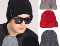 Fashion Men Cool Korean Men's Classic Winter Warm Knit Hat Outdoor Head Cap Sleeve Beanies Cndirect bester Fashion-Online-Shop aus China